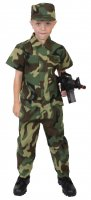 Kids Woodland Camouflage Soldier Costume
