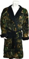 Mens Highland Timber Camo Fleece Robe with Black Accents 2931-13