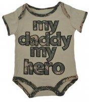 "United States Army ""My Daddy My Hero"" ACU Baby Bodysuit"