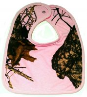 Mossy Oak Breakup Camo Pink Baby Bib - Medium