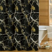 "Realtree AP Black Camo Shower Curtain 72"" x 72"""