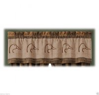 Ducks Unlimited Logo Brown & Tan Plaid Window Valance