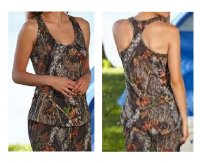 Ladies Mossy Oak Breakup Camo Racer Back Tank Top 605821