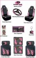 Mossy Oak Pink Camo 11 Pc. Auto & Truck Accessory Set