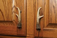 "4.75"" Right & Left Deer Antler Cabinet Door Handles 12 Pk."
