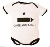 "Baby Bodysuit White ""Come and Take It"""