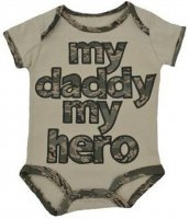 United States Air Force My Daddy My Hero Embroidered Bodysuit