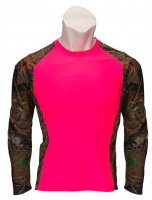Womens Impulse 4-way Stretch Long Sleeve Tee Neon Pink Camo